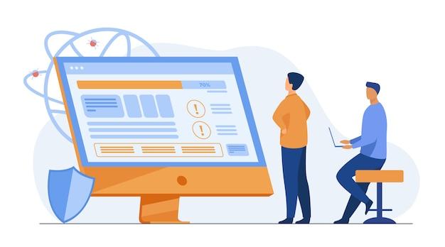 Entwickler testen software Kostenlosen Vektoren