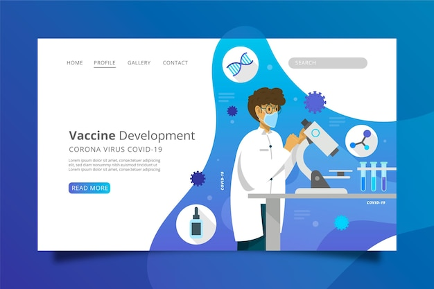Entwicklung eines heilmittels gegen coronavirus Kostenlosen Vektoren