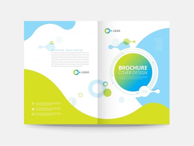 Entwurfsvorlage für broschürencover Premium Vektoren