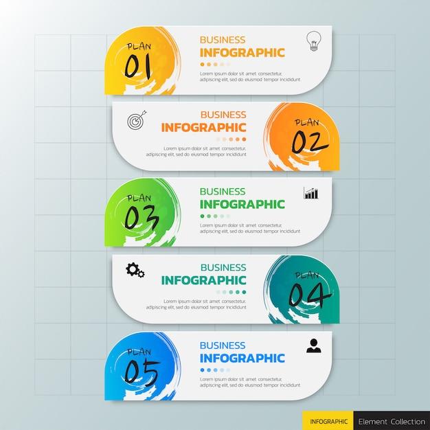 Entwurfsvorlage für business-infografiken. Premium Vektoren