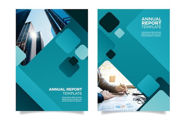 Entwurfsvorlage für einen jahresbericht Kostenlosen Vektoren