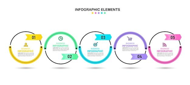 Entwurfsvorlage für zeitleisten-infografiken Premium Vektoren