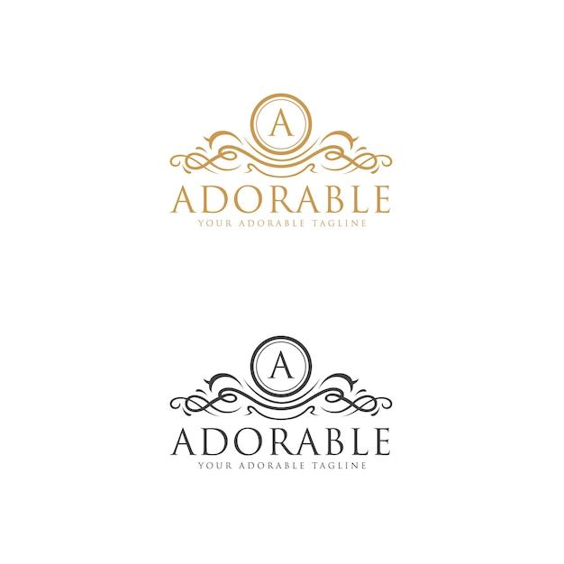Entzückende logo-vorlage Premium Vektoren