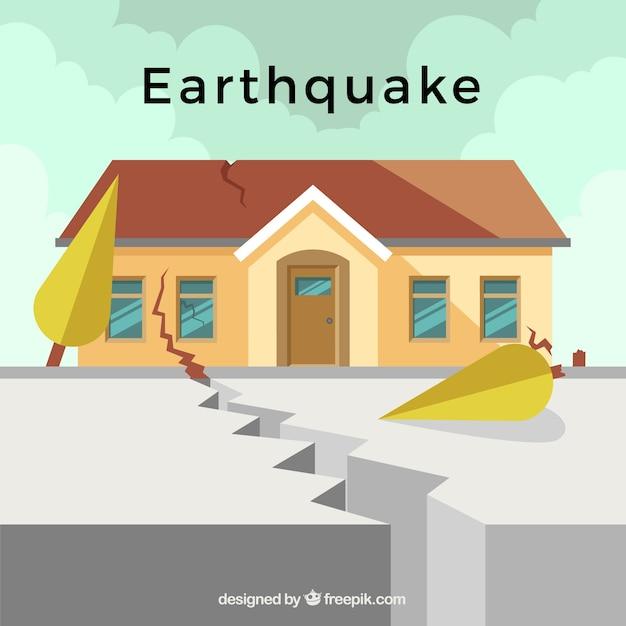 Erdbeben design Kostenlosen Vektoren