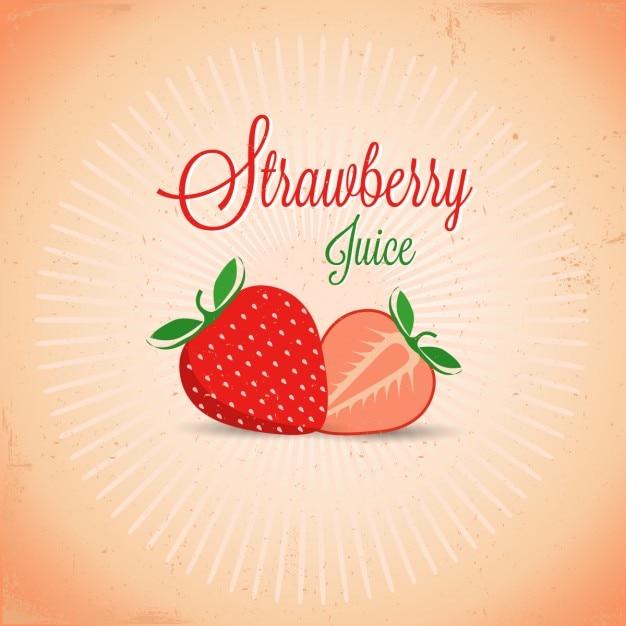 Erdbeer-design Kostenlosen Vektoren