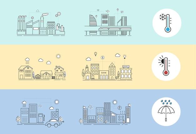 Erderwärmung Kostenlosen Vektoren