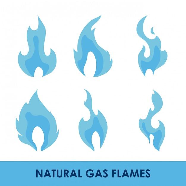 Erdgas design Premium Vektoren