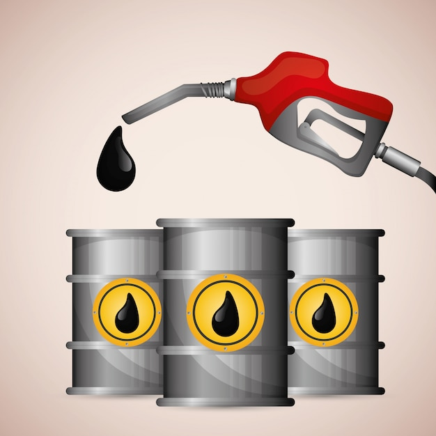 Erdöl- und ölpreisdesign. Premium Vektoren