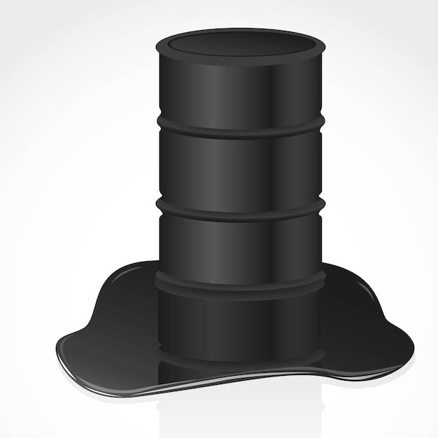 Erdölverschüttung und gallone Premium Vektoren