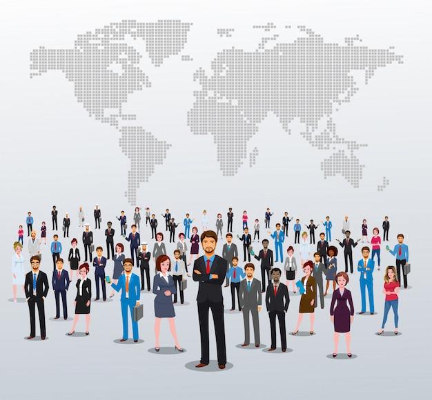 Erfolgreiche business-teammitglieder Premium Vektoren