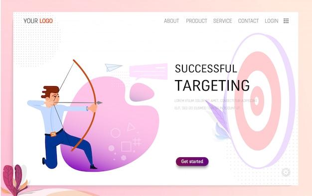 Erfolgreiches targeting-konzept Premium Vektoren