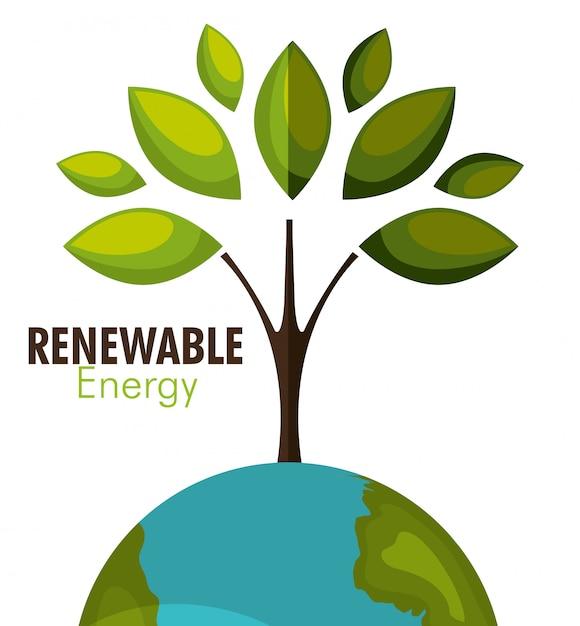 Erneuerbare energie Kostenlosen Vektoren