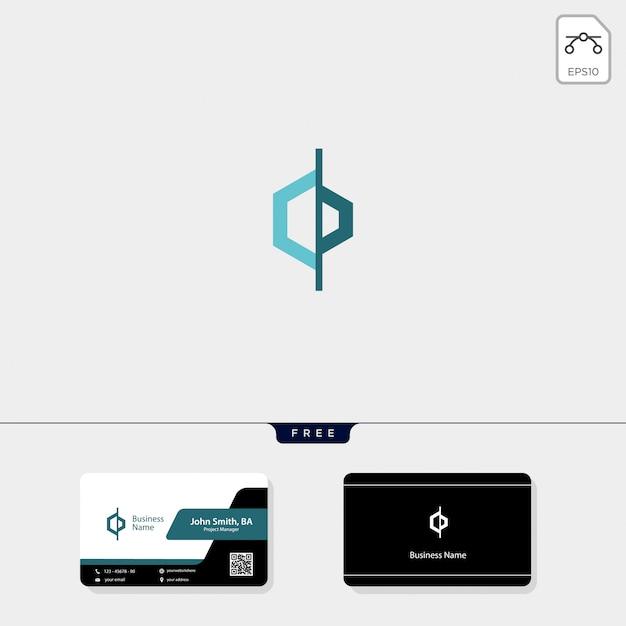 Erste cd-logo-vorlage, erhalten sie ein kostenloses visitenkarten-design Premium Vektoren