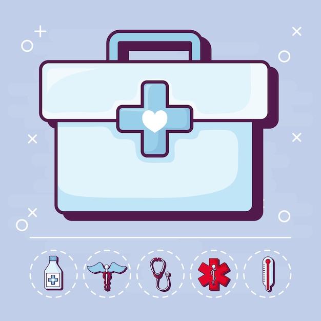 Erste hilfe und medizinisch Kostenlosen Vektoren