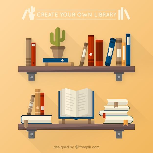 Erstellen sie ihre eigene bibliothek Kostenlosen Vektoren