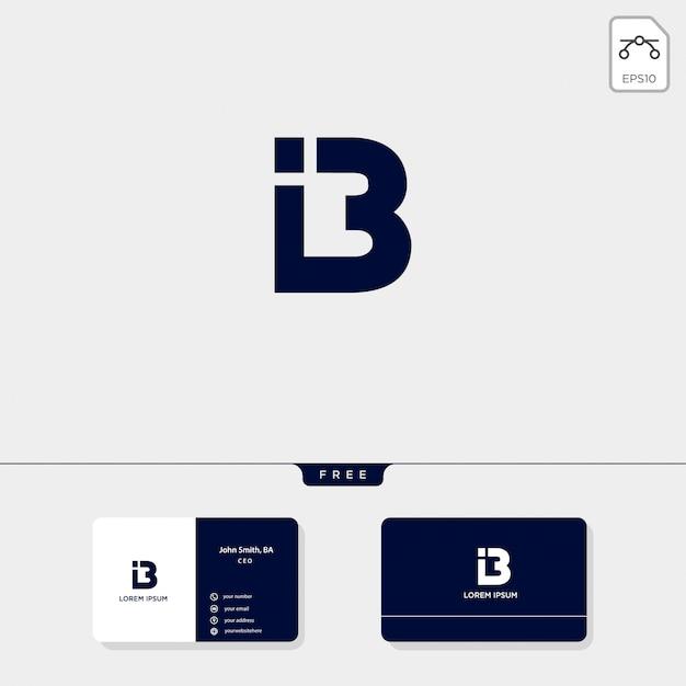 Erstklassige abstrakte initiale b, logoschablonenvektorillustrationsvisitenkartedesign schließen ein Premium Vektoren