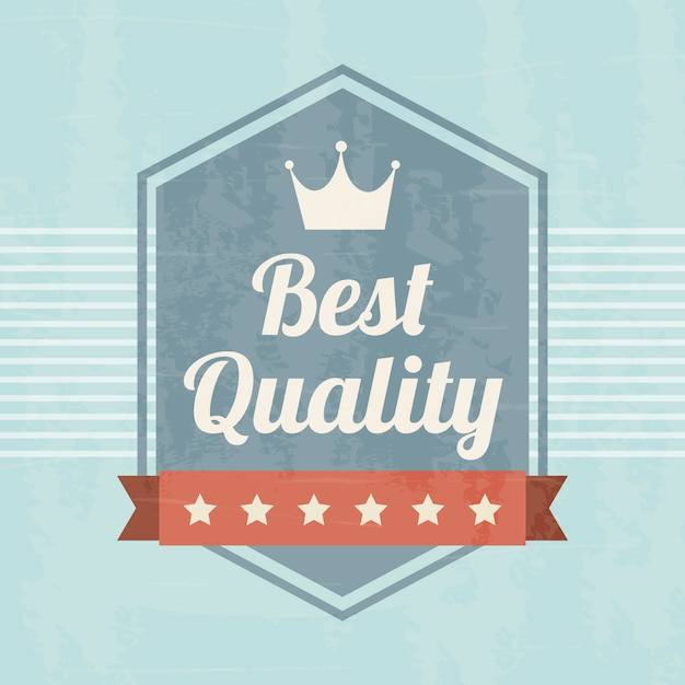 Erstklassige qualität über blauer hintergrundvektorillustration Premium Vektoren