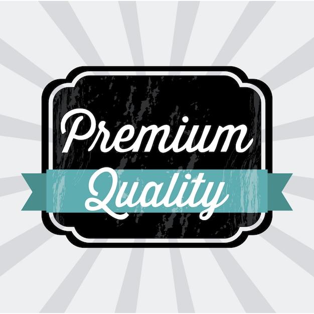 Erstklassige qualität über grauer hintergrundvektorillustration Premium Vektoren