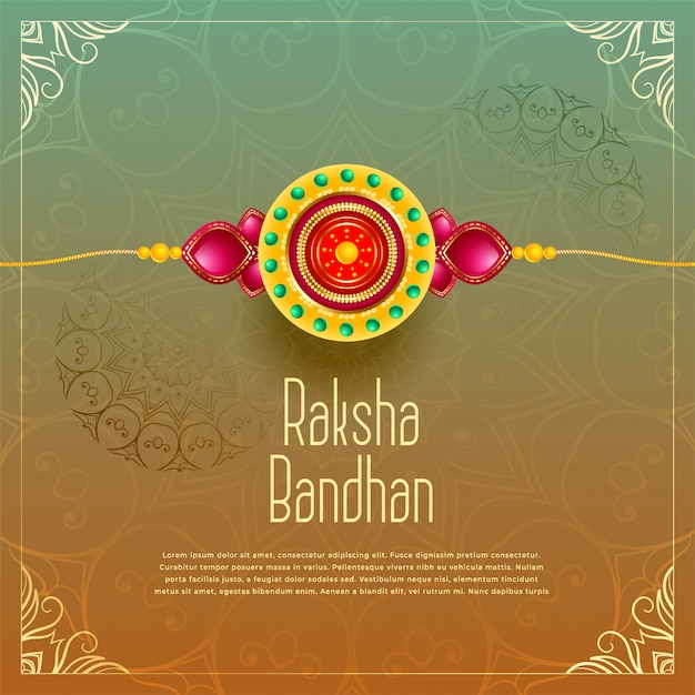 Erstklassiger raksha bandhan grußhintergrund Kostenlosen Vektoren