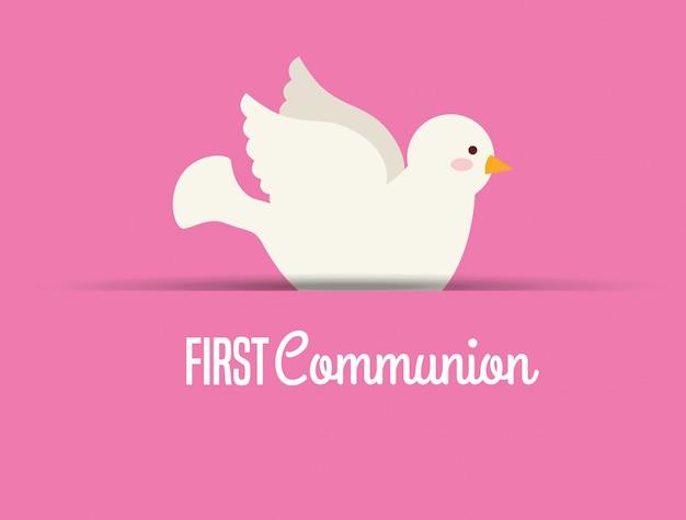 Erstkommunion kartenentwurf Kostenlosen Vektoren