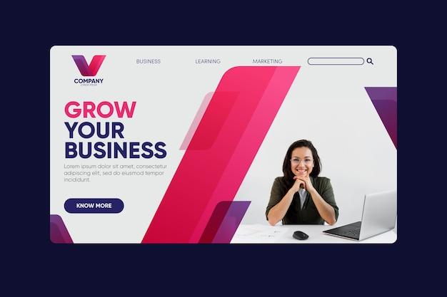 Erweitern sie ihre business-landingpage Kostenlosen Vektoren