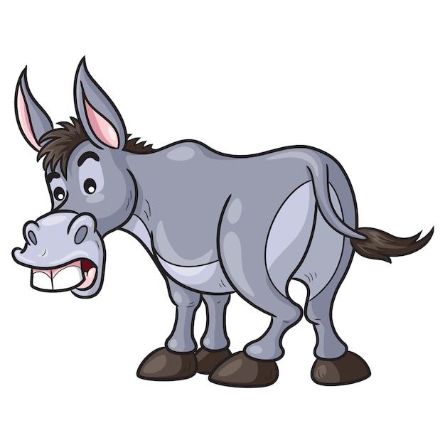 Esel-cartoon Premium Vektoren