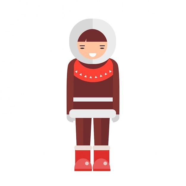 Eskimo-vektor-illustration. Premium Vektoren