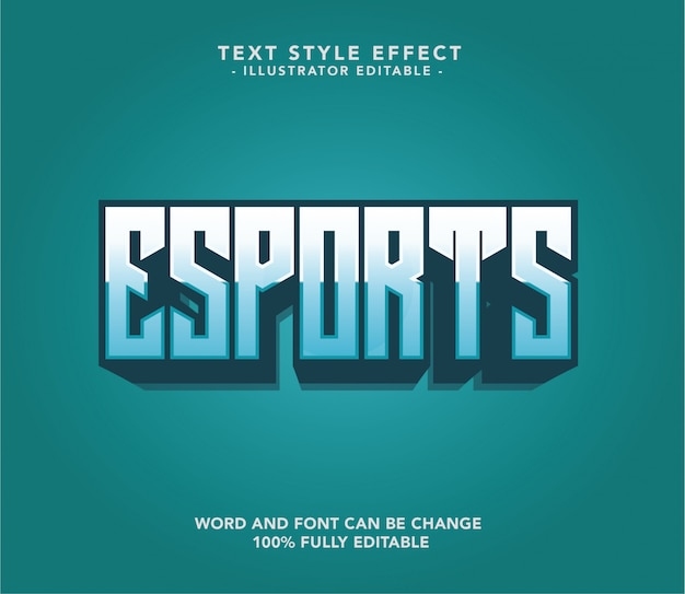 Esport-schrifttext Premium Vektoren
