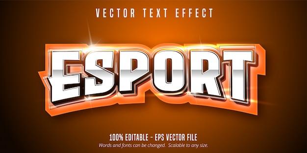 Esport-text, bearbeitbarer texteffekt im sportstil Premium Vektoren