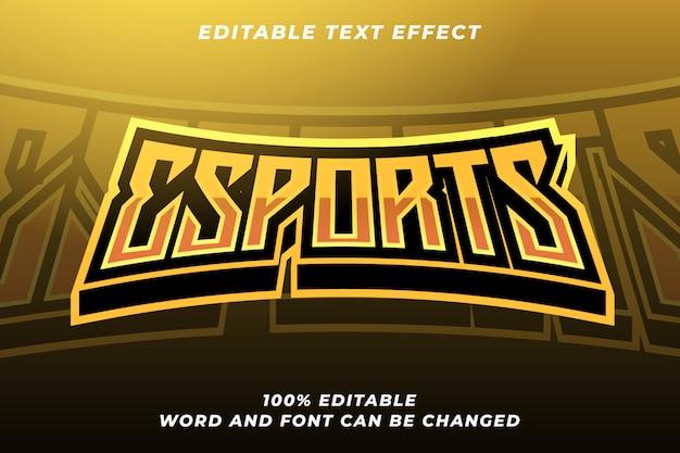 Esport-textstil-effekt 5 Premium Vektoren