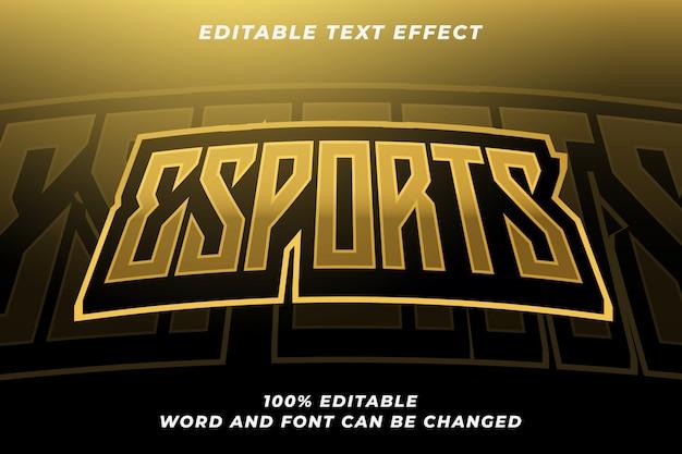 Esport-textstil-effekt 6 Premium Vektoren