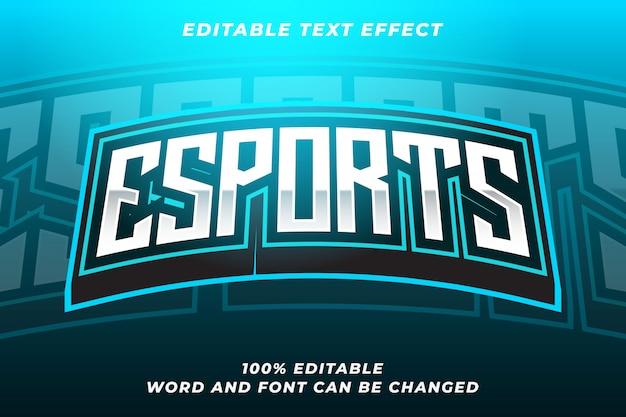 Esport-textstil-effekt Premium Vektoren