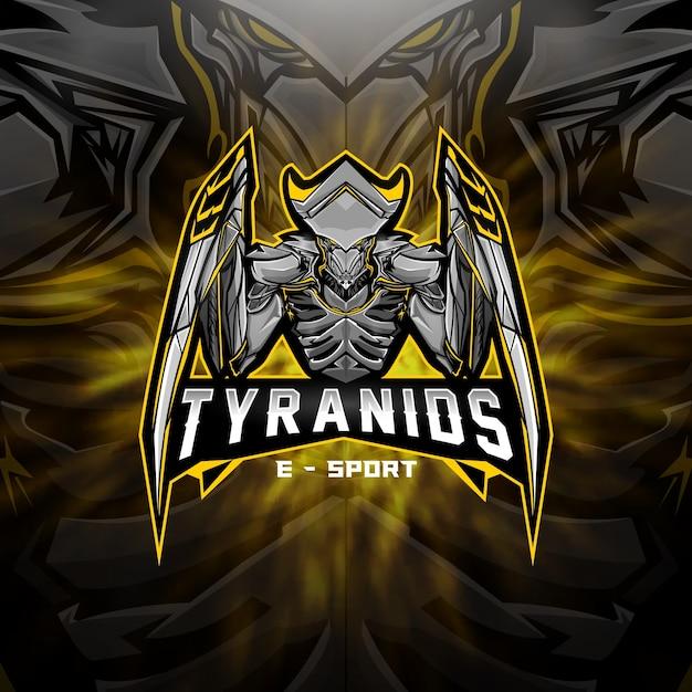 Esports-logo ausländisches tyraniden-team Premium Vektoren