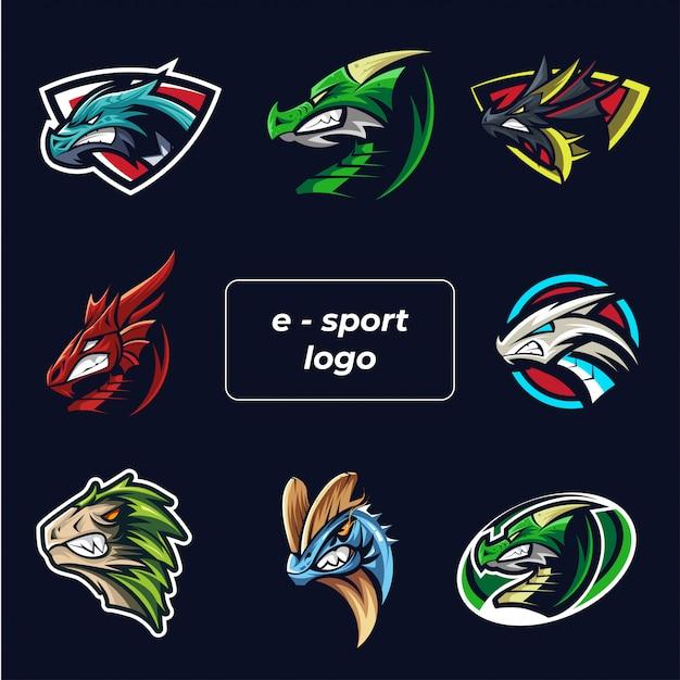 Esports-logo festgelegt Premium Vektoren