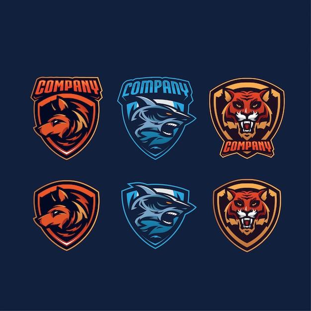 Esports logos Premium Vektoren