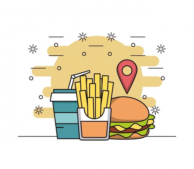 Essen bestellen Premium Vektoren