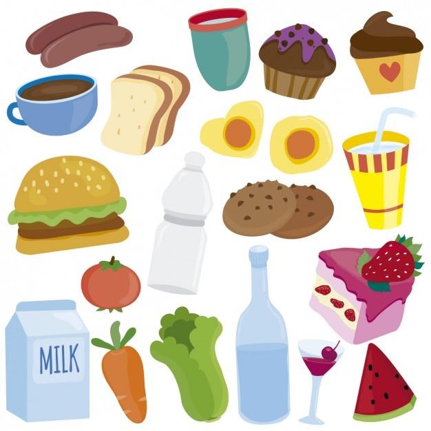 Essen Illustrationen Download Der Kostenlosen Vektor