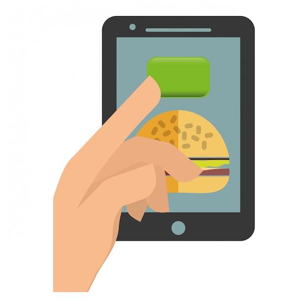 Essen lieferung symbolbild Premium Vektoren