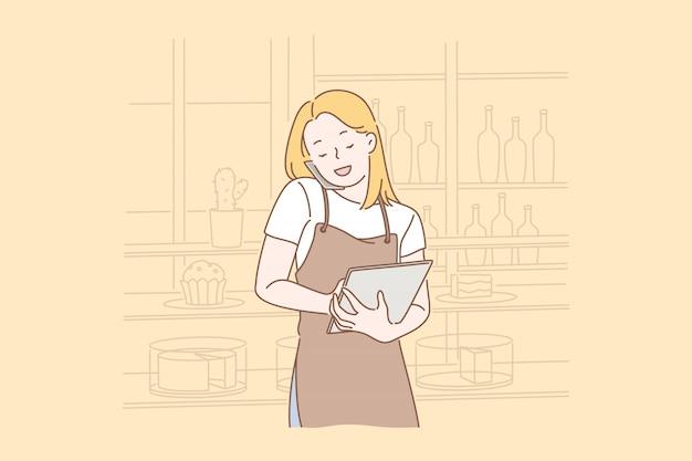 Essen online bestellen. Premium Vektoren