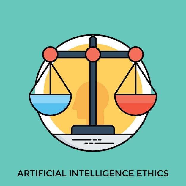 Ethik der künstlichen intelligenz Premium Vektoren