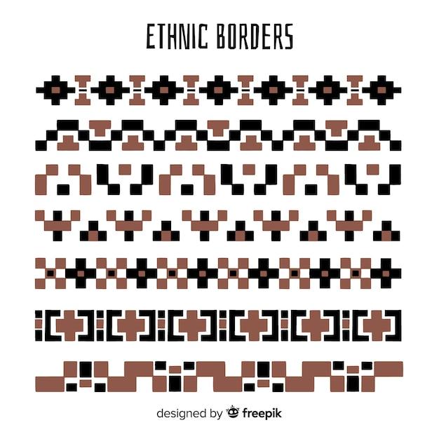 Ethnische grenzsammlung Kostenlosen Vektoren