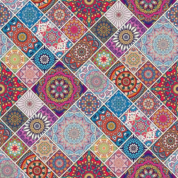 ethnischen floralen nahtlose muster zusammenfassung ornamentalen muster mandala download der. Black Bedroom Furniture Sets. Home Design Ideas