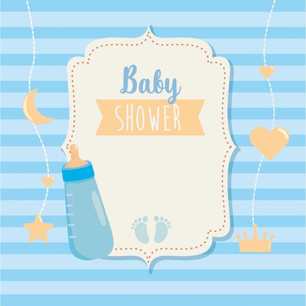 Etikett der babyflasche mit kronendekoration Kostenlosen Vektoren
