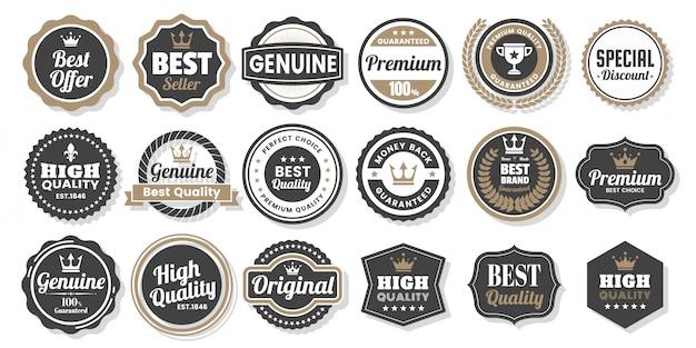 Etikettenset Premium Vektoren