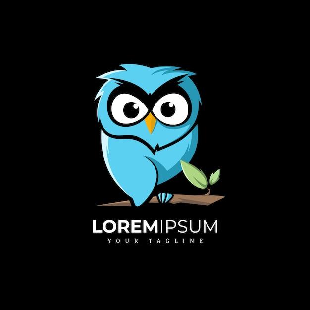 Eulen-logo-design Premium Vektoren