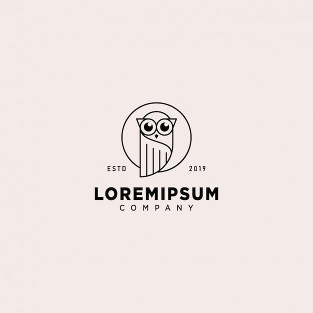 Eulen-logo-schablone Premium Vektoren