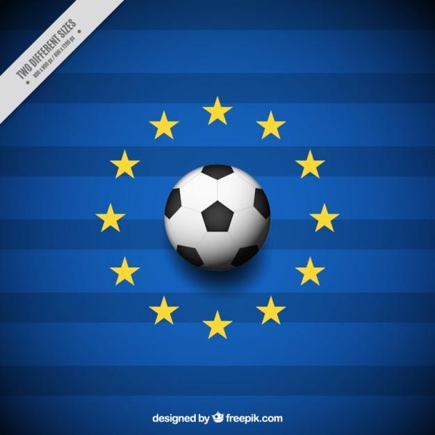 Euro 2016 hintergrund mit sternen Kostenlosen Vektoren