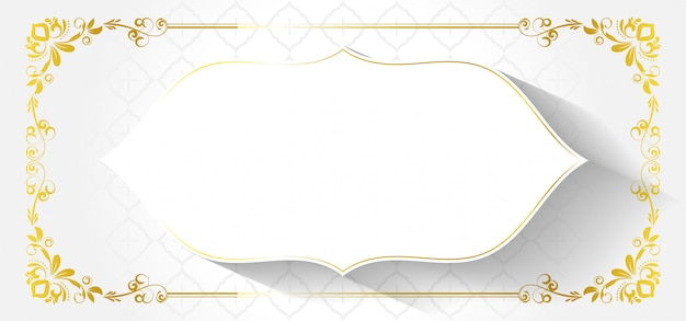 Europäischer dekorativer rahmen mit abstrakten blumen Premium Vektoren