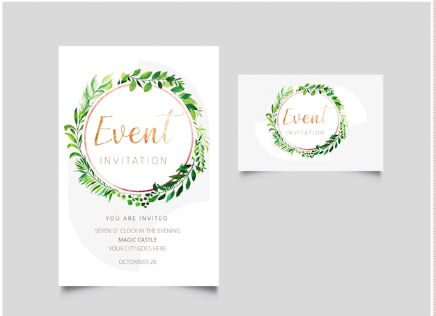 Event-einladungskarte Premium Vektoren