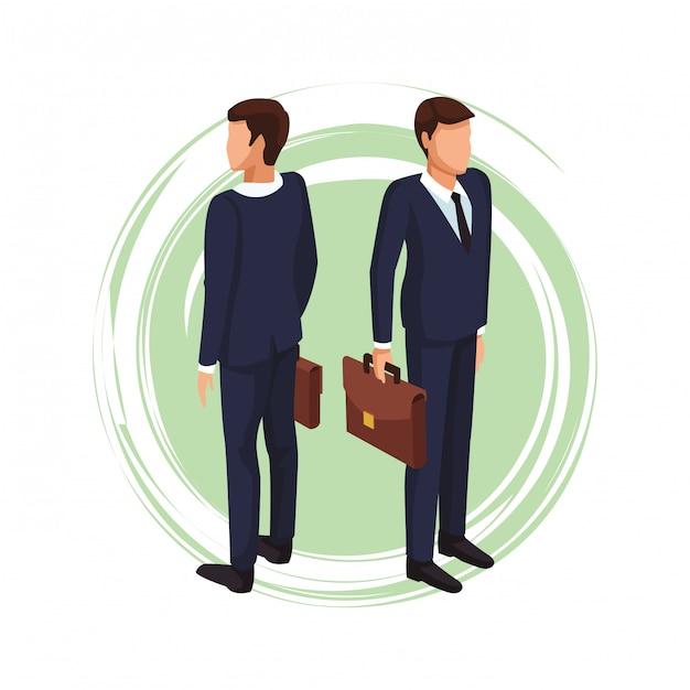 Executive geschäftsmann avatar Premium Vektoren